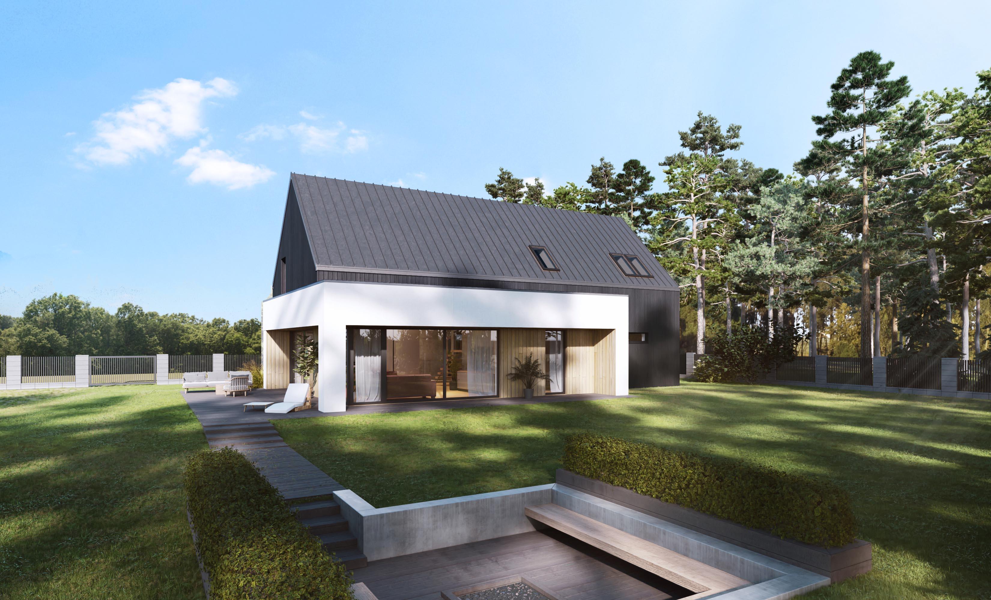 projekt nowoczesnego domu najlepszy 2021