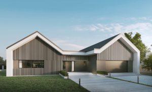 projekt domu dwie nowoczesne stodoły