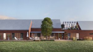 nowoczesny dom z cegły
