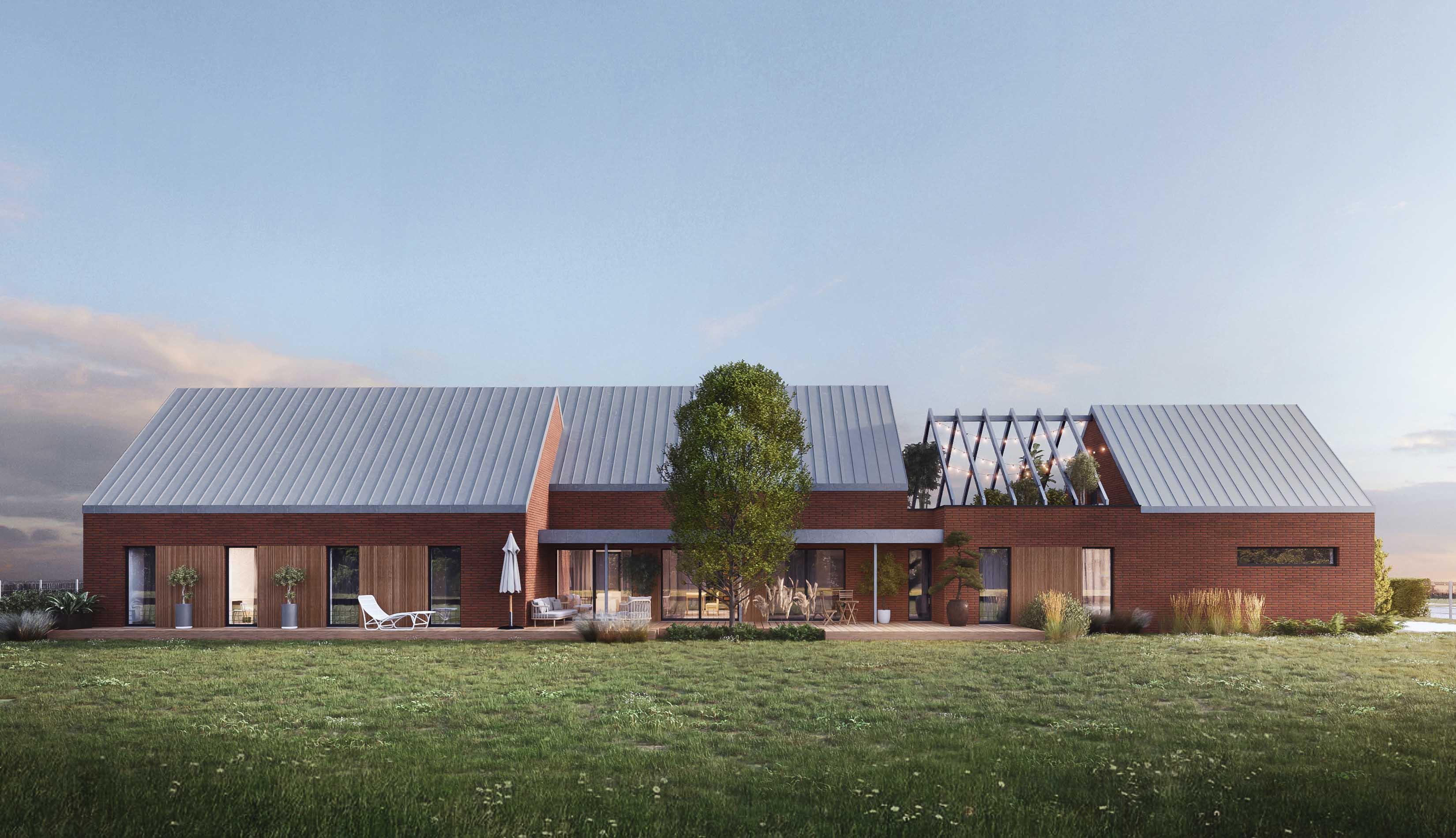 projekt nowoczesnego domu trzy stodoły