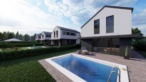 nowe nowoczesne domy na sprzedaż