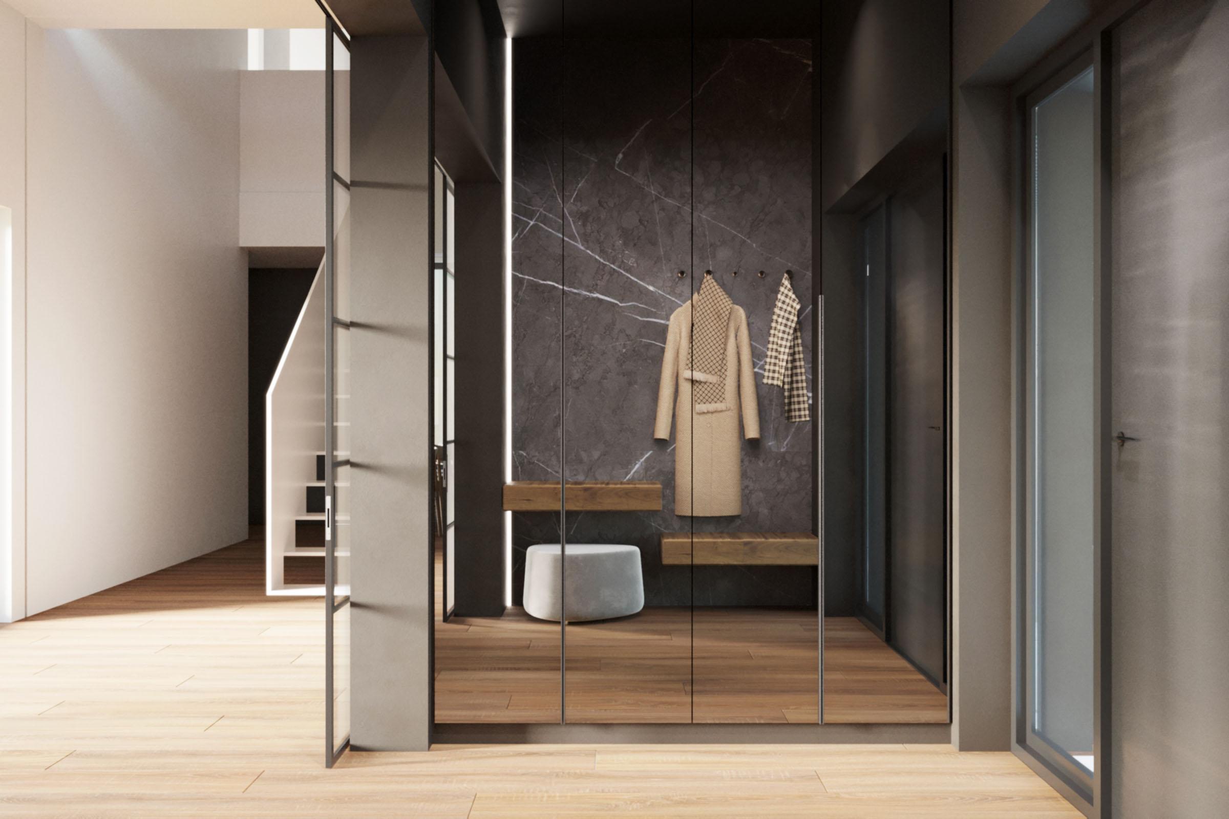 nowoczesny proejkt wnętrza domu architektura ciążkowski