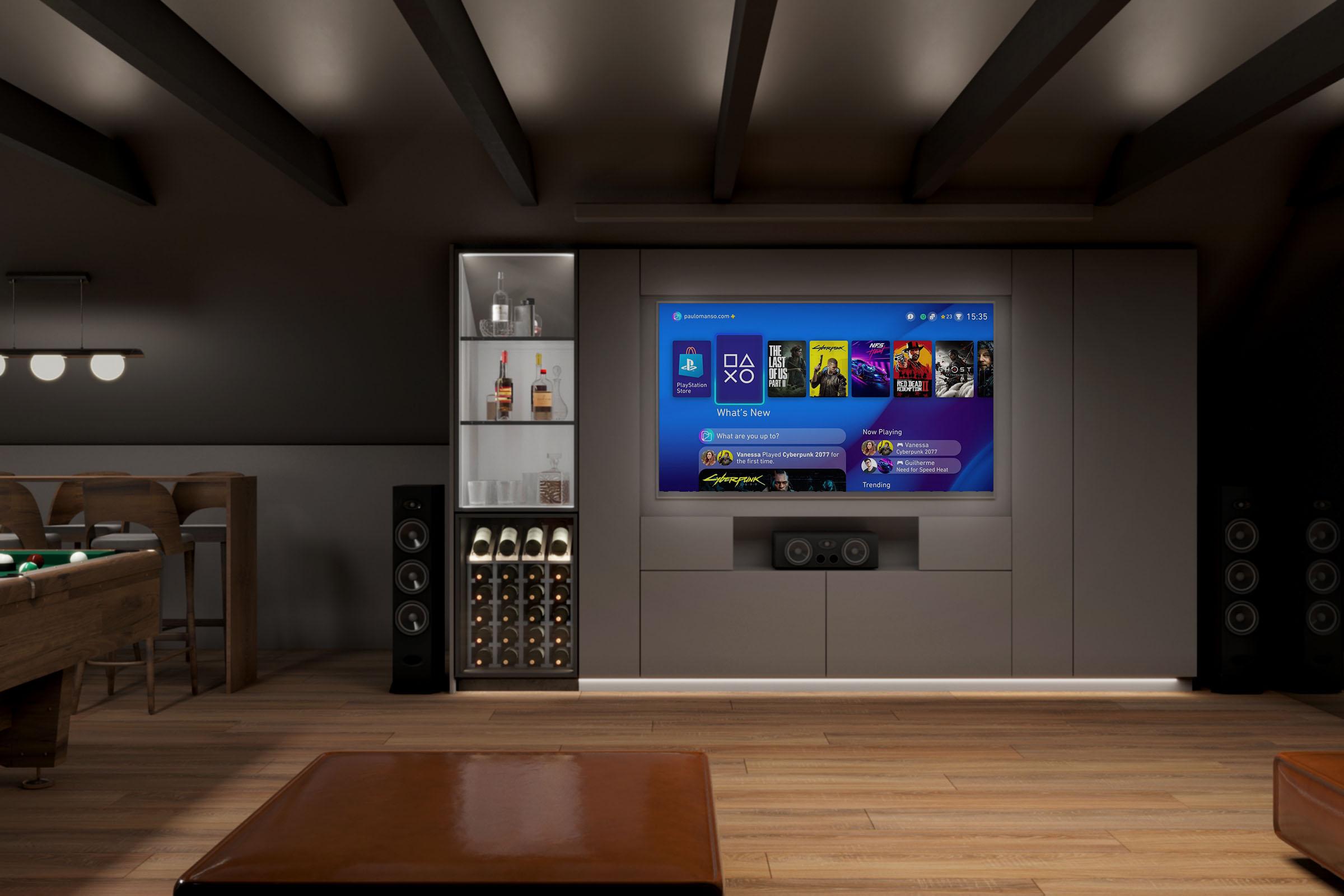 projekt wnętrza pokoju gier i zabaw