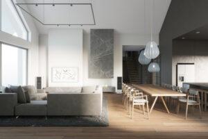 projekt wnętrza salonu architekt poznan